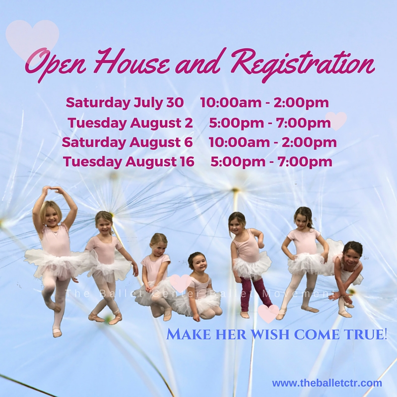 Ballet Center Open House and Registration